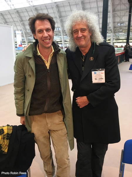 Brian May and Jos Bandinelli London Book Fair 2017