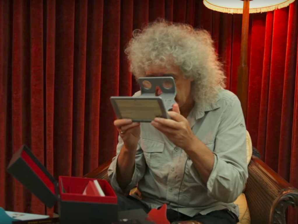 Brian May with VR kit