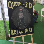 Queen In 3-D chalkboard sign