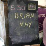 Brian May -chalkbaord