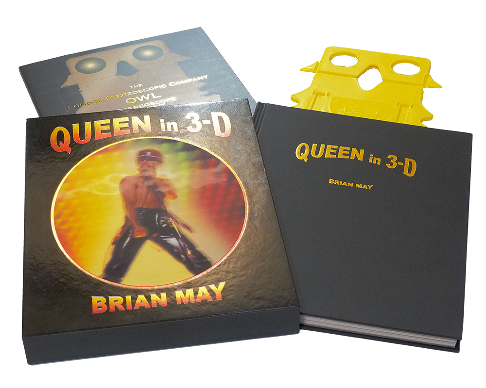 Queen in 3-D package spread