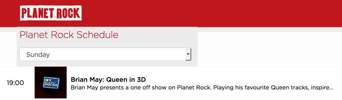 Planet Rock - Brian May