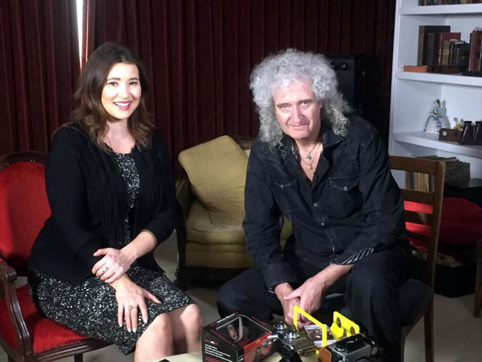 Brian May and Alice Bhandhukravi BBC London News