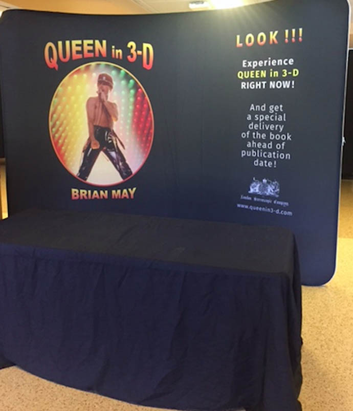 Queen in 3-D US Tour flyer photoe