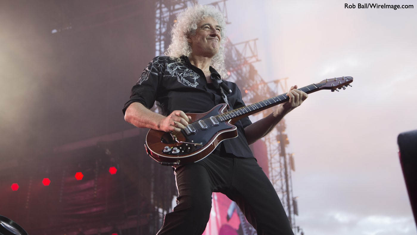Brian May on stage