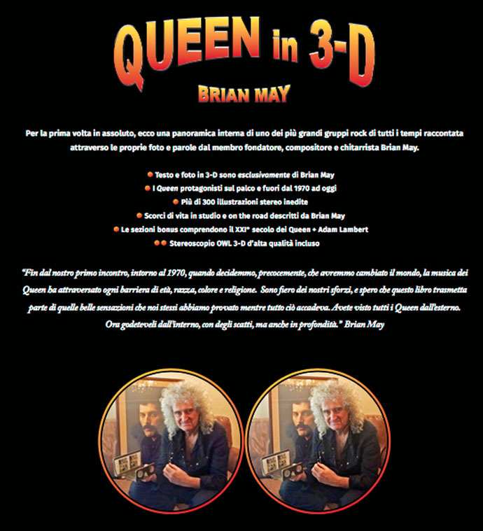 Queen in 3-D (Italy) back cover