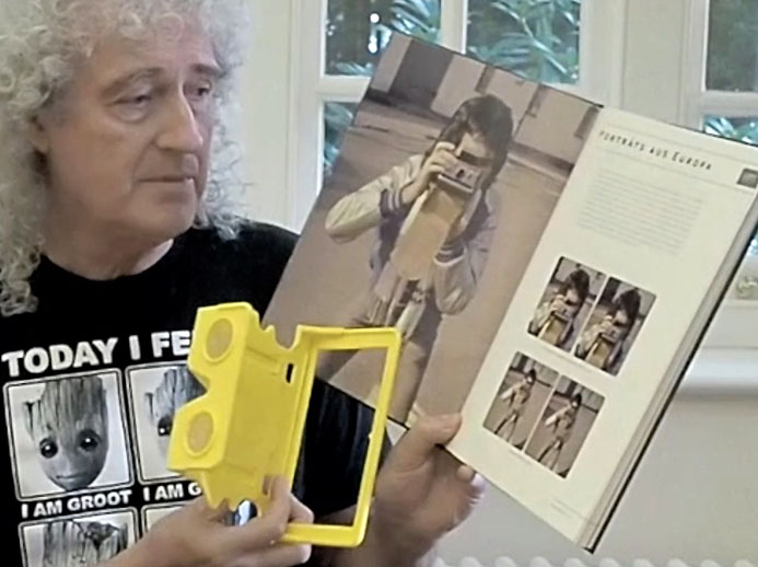 Brian shows open page of German Queen in 3-D