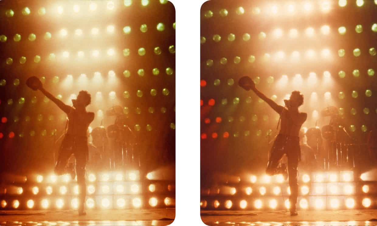Freddie under stage lights - stereo