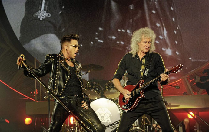 Adam and Brian on stage