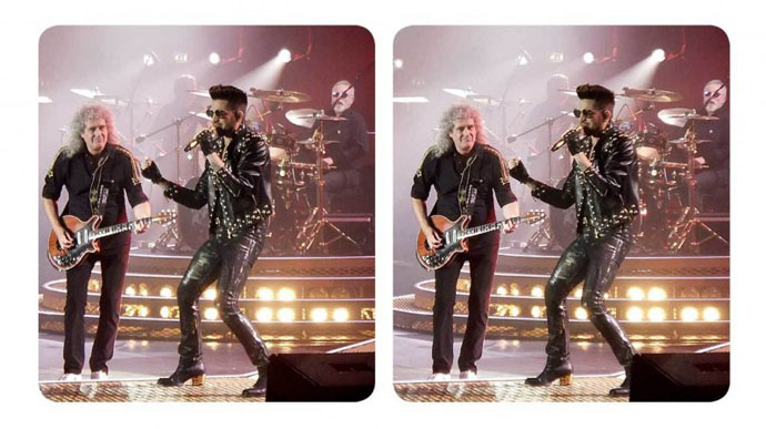 Brian and Adam on stage - stereo