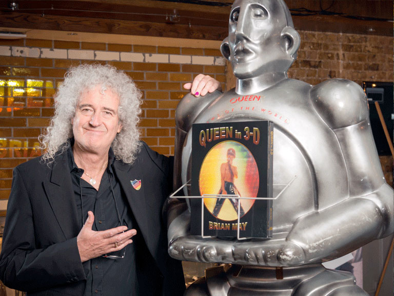Bri and robot Frank at London book launch
