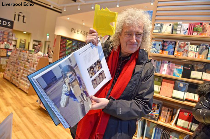 Brian May at Waterstones Liverpool