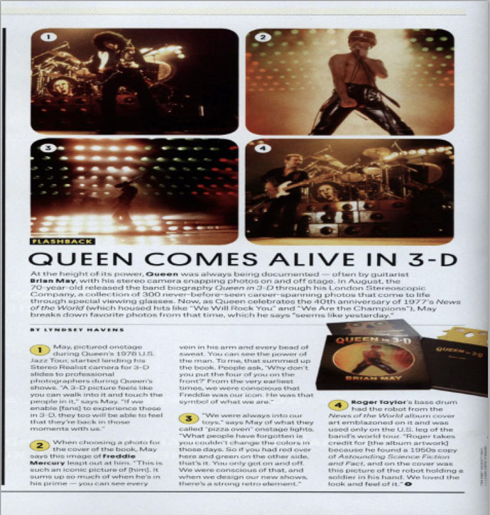"Billboard ""Queen comes alive in 3-D"""
