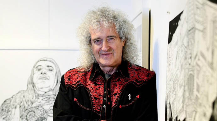 Brian May promoting Queen in 3-D - Sydney