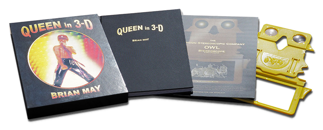 Queen in 3-D book package - spread