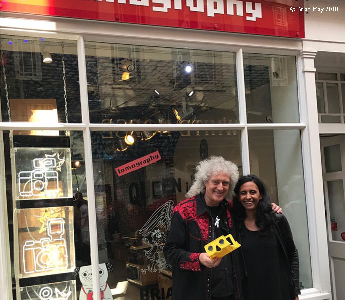 Brian May and Founder of Lomography, Sally Bibawy