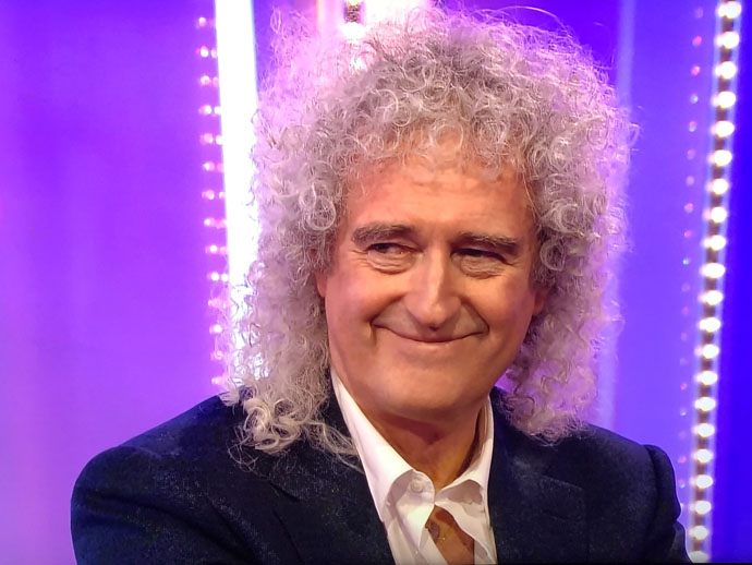 Brian May on The One Show - smiling