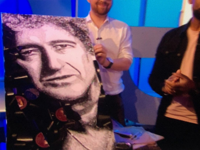 Brian May portrait made from vinyls by Ben Riley