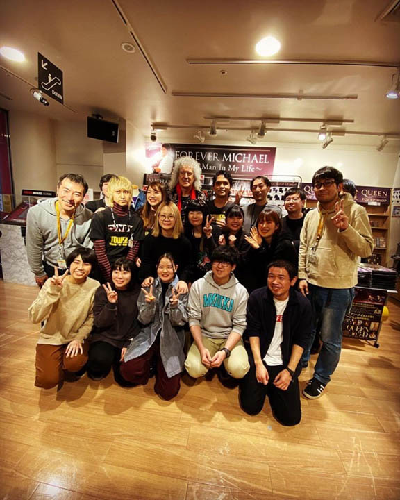 Bri and Tower Records staff by Agent Ashley