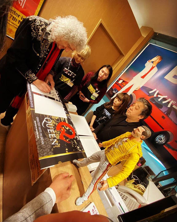 Brian May signing at Tower Records by Agent Ashley