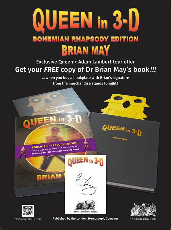 Queen in 3-D advert for Tour programme